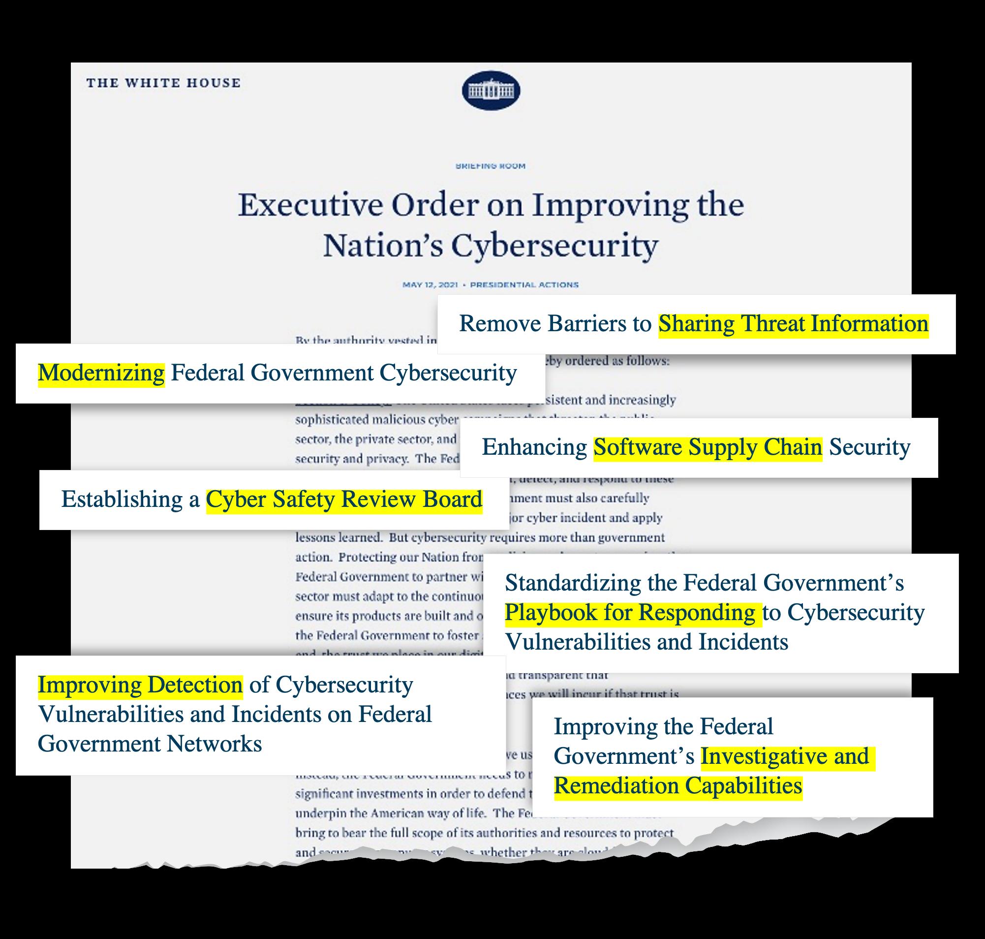 President Biden's Cybersecurity Executive Order Highlights
