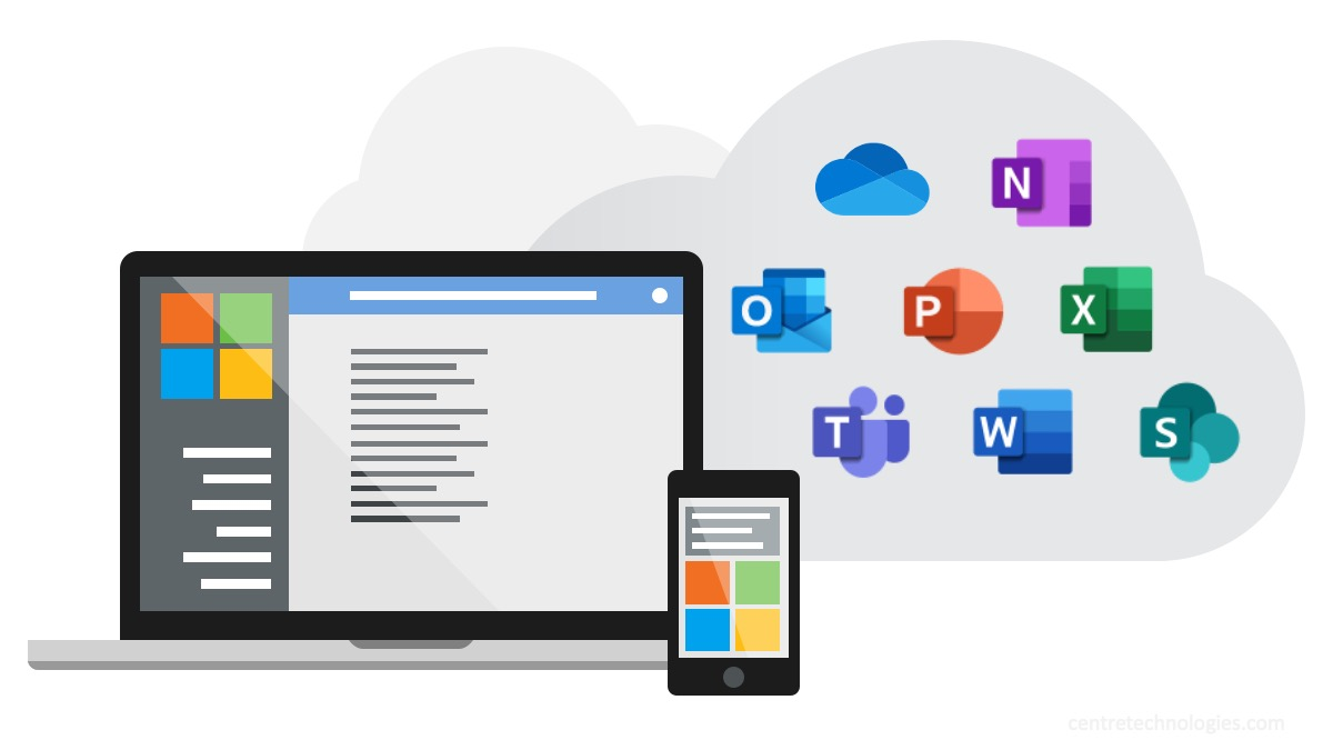 Microsoft Office 365 productivity and collaboration applications