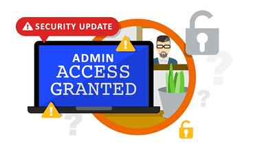 Increased admin access permissions when working remote or from home