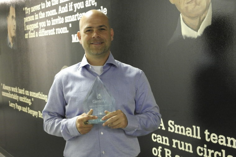 Chris Pace Centrify Rsing Star Partner of the Year Centre Technologies